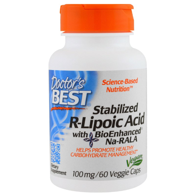 Image of Stabilized R-Lipoic Acid 100 mg (60 Veggie Caps) - Doctor's Best 0753950001237
