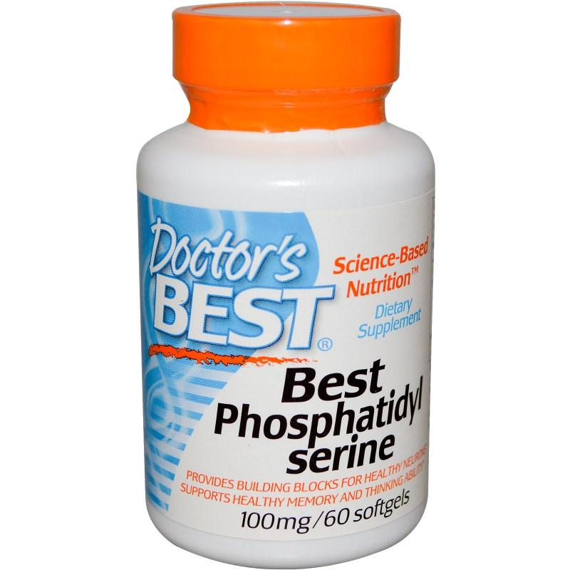 Image of Best Phosphatidylserine 100 mg (60 Softgels) - Doctor's Best 0753950001688