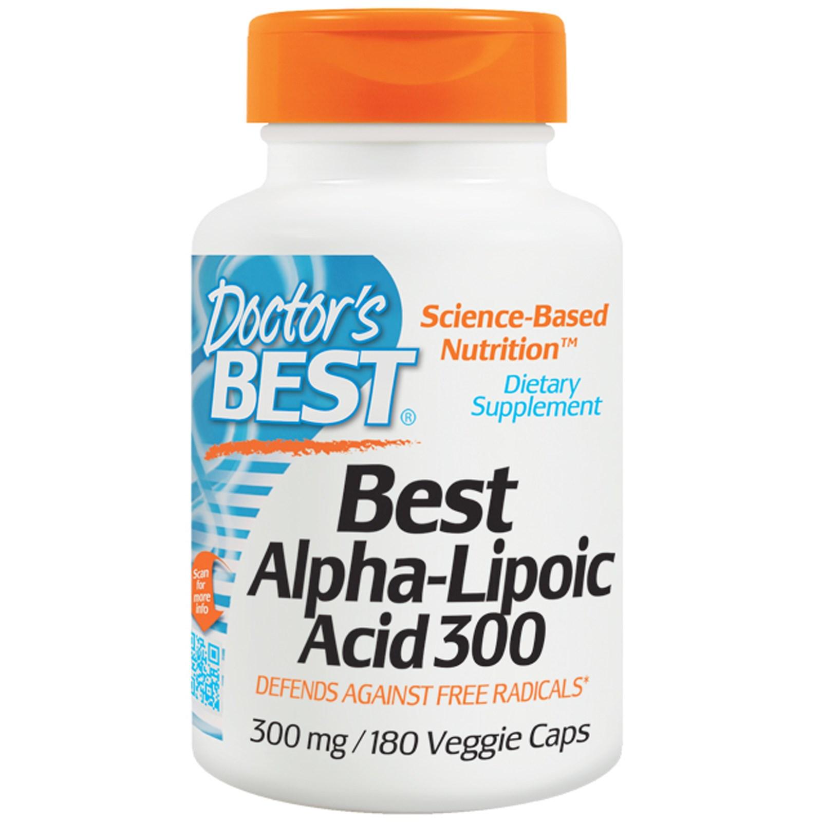 Image of Doctor's Best, Best Alpha-Lipoic Acid 300, 300 mg, 180 Veggie Caps 0753950002777