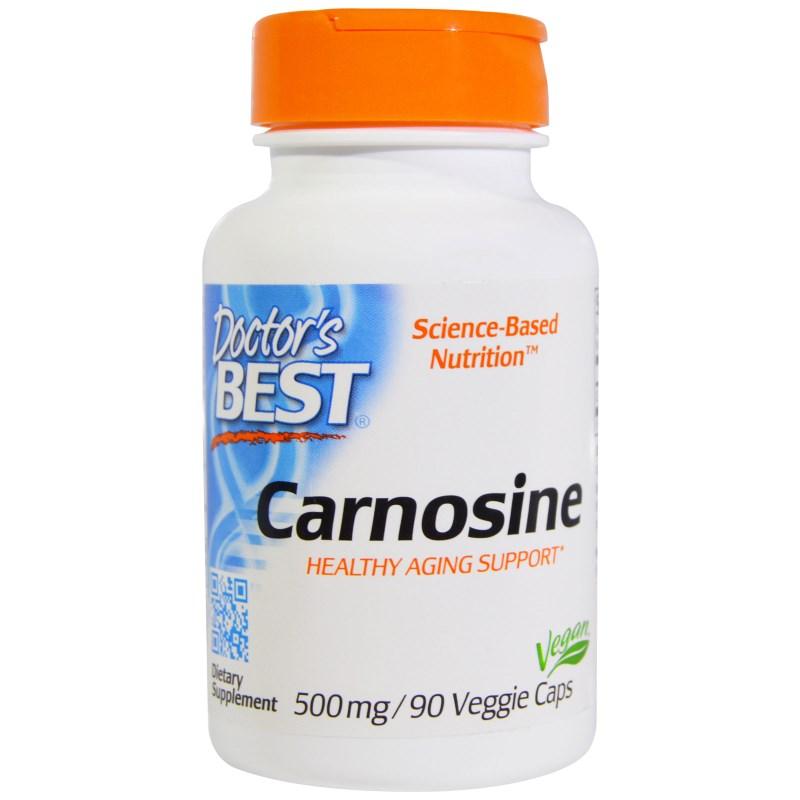 Image of Carnosine 500 mg (90 Veggie Caps) - Doctor's Best 0753950003590