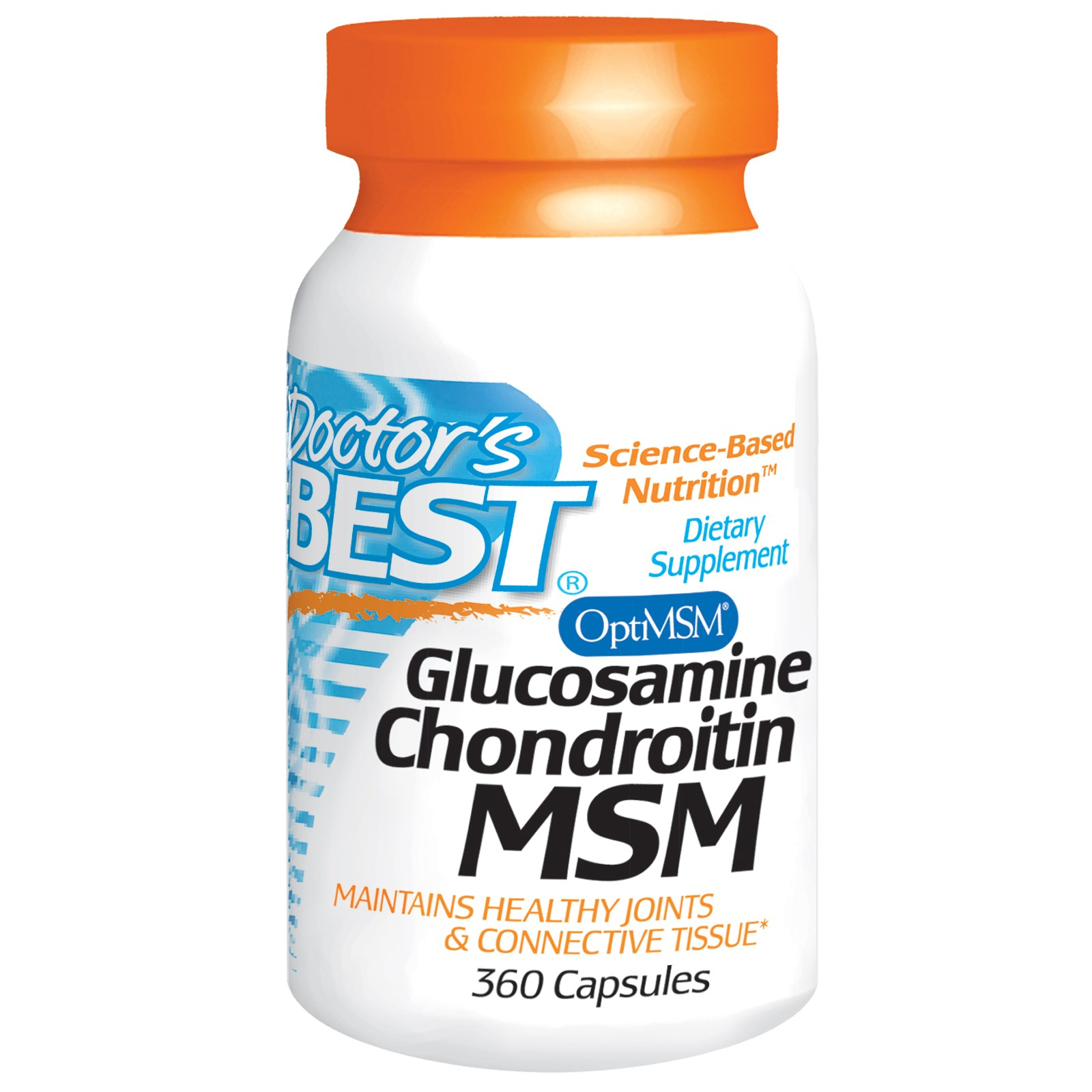 Image of Doctor's Best, Glucosamine Chondroitin MSM, 360 Capsules 0753950003644