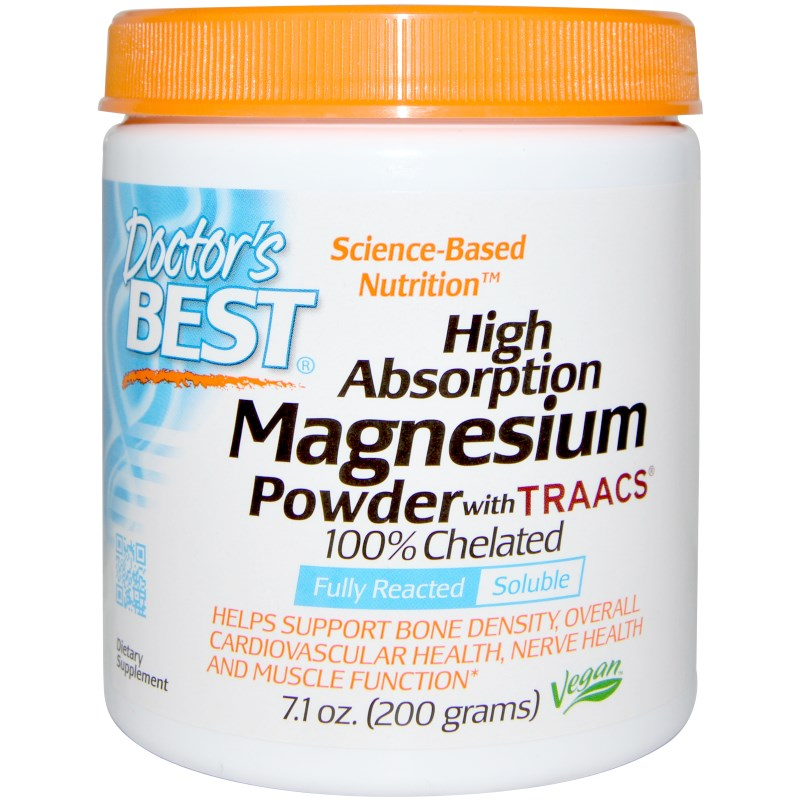 Image of High Absoprtion Magnesium Powder with TRAACS (200 g) - Doctor's Best 0753950004085
