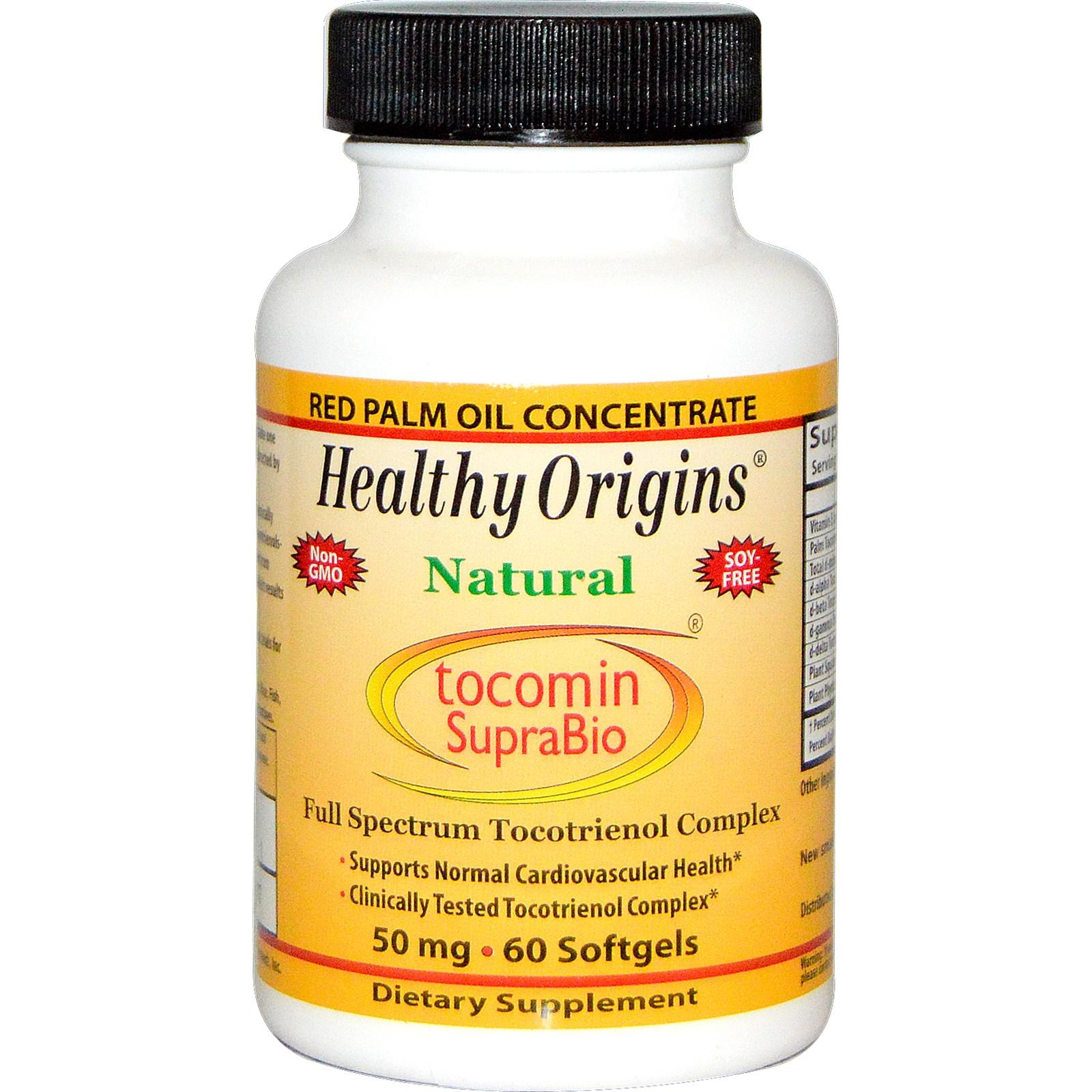 Image of Healthy Origins, Tocomin SupraBio, 50 mg, 60 Softgels 0603573164751
