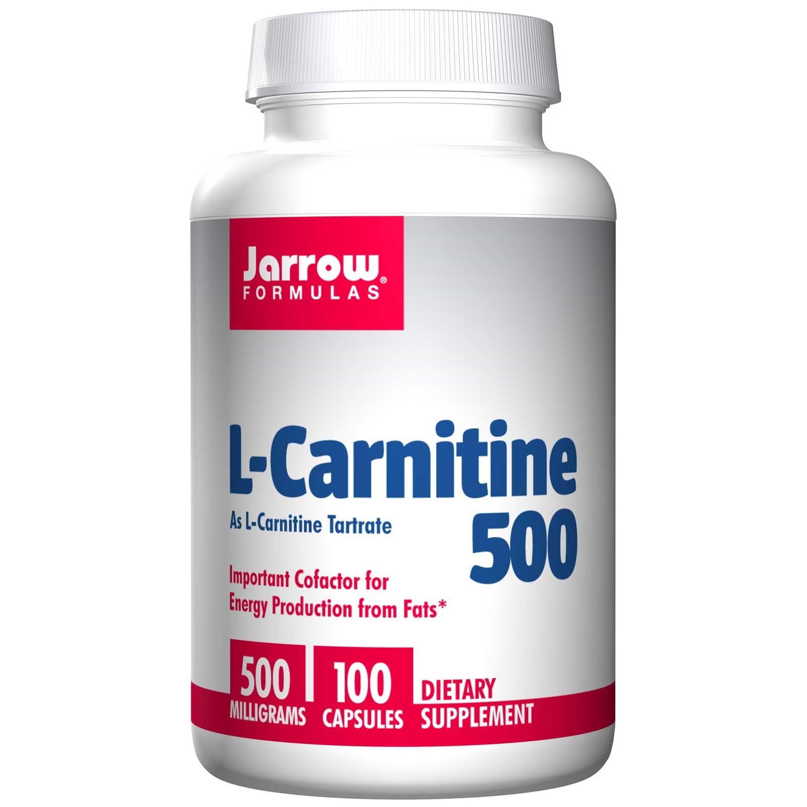 Image of L-carnitina 500, 500 mg (100 capsule) - Jarrow Formulas 0790011020028