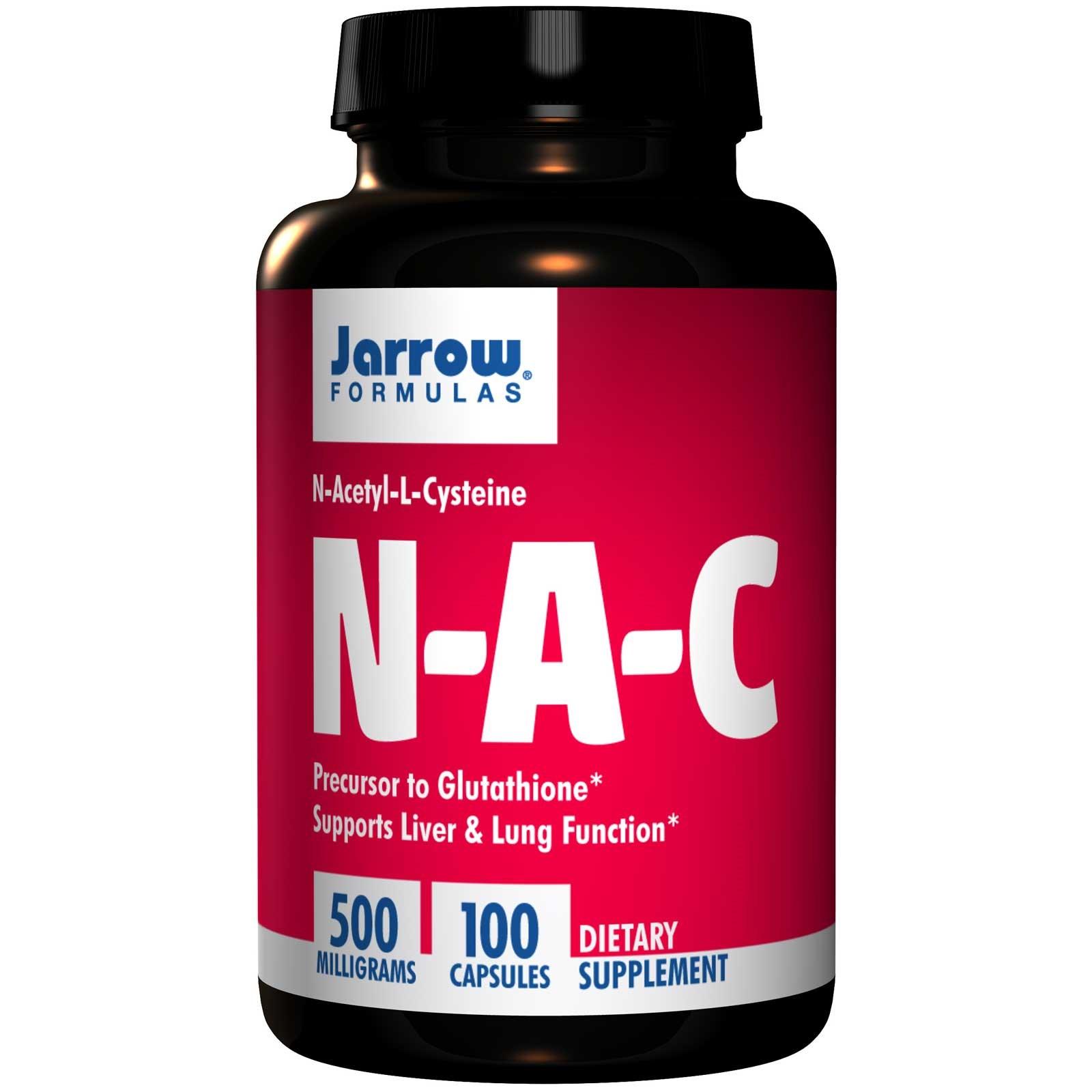 Image of N-A-C N-Acetyl-L-Cysteine 500 mg (100 Capsules) - Jarrow Formulas 0790011070023