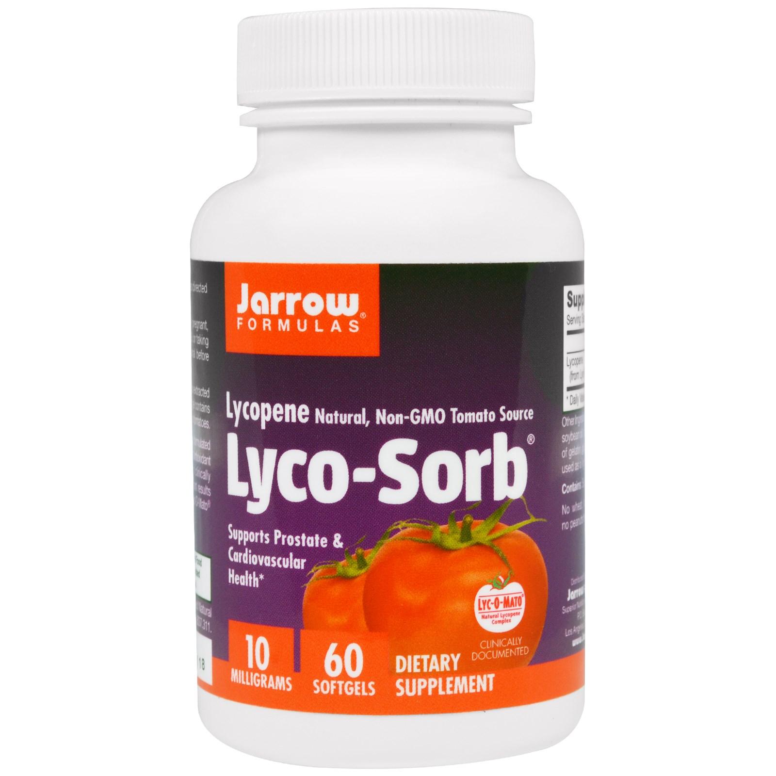 Image of Lyco-Sorb licopene 10 mg (60 capsule) - Jarrow Formulas 0790011120124