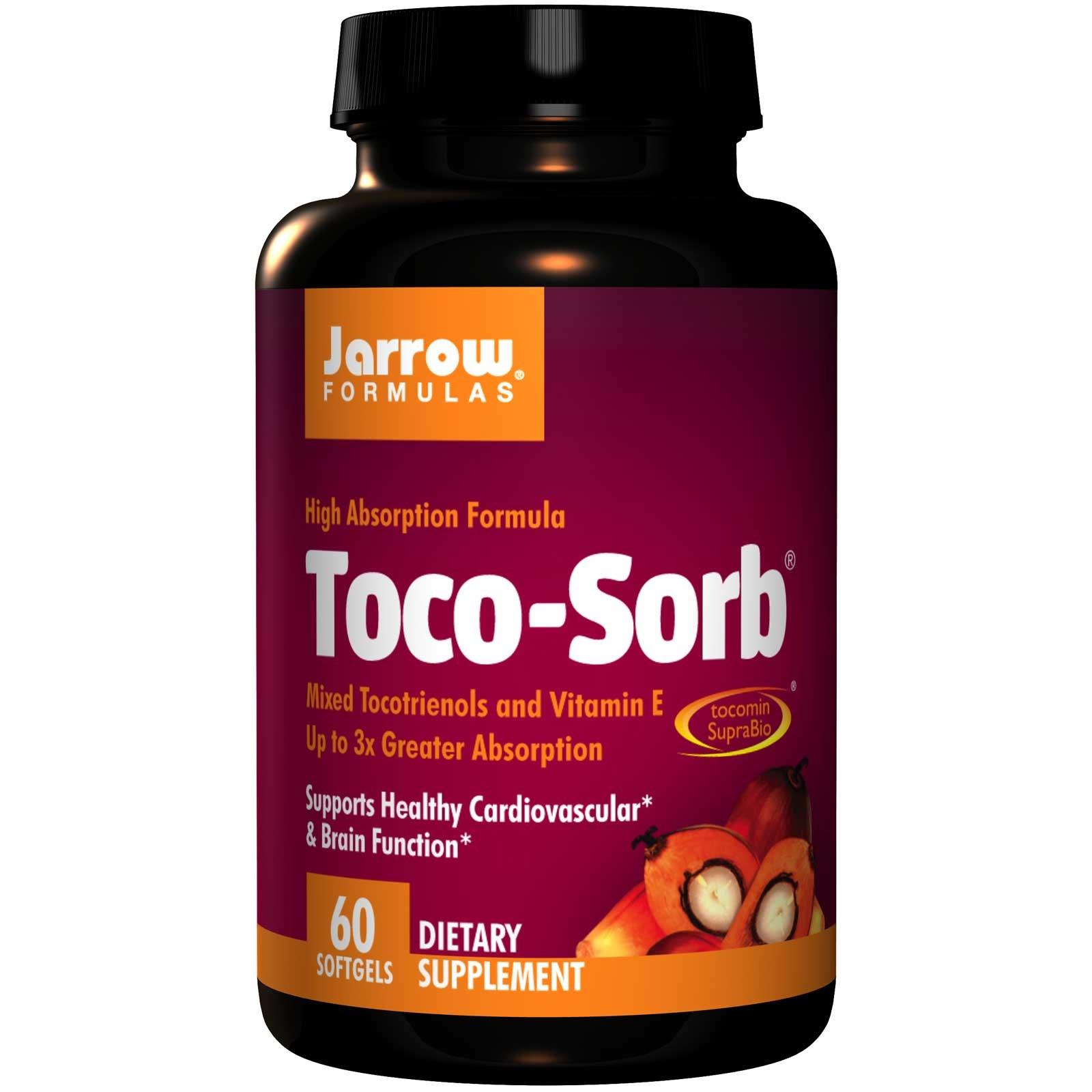 Image of Toco-Sorb miscelati tocotrienoli e vitamina E (60 capsule) - Jarrow Formulas 0790011120261