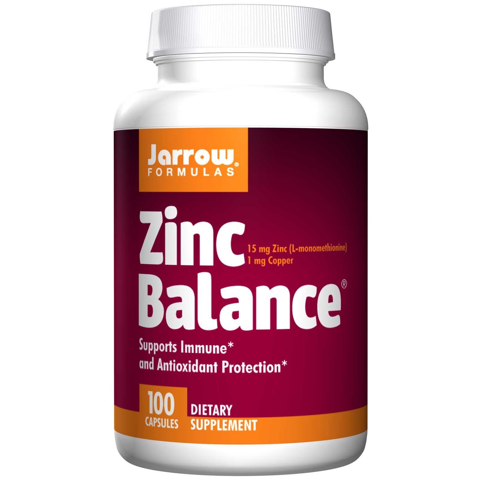 Image of Zinc Balance (100 Capsules) - Jarrow Formulas 0790011130086