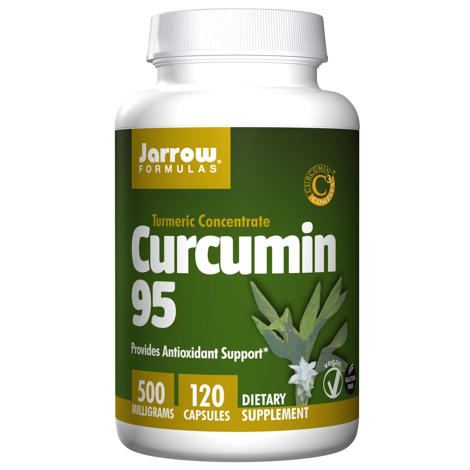 Image of Curcumin 95, 500 mg (120 Veggie Caps) - Jarrow Formulas 0790011140764