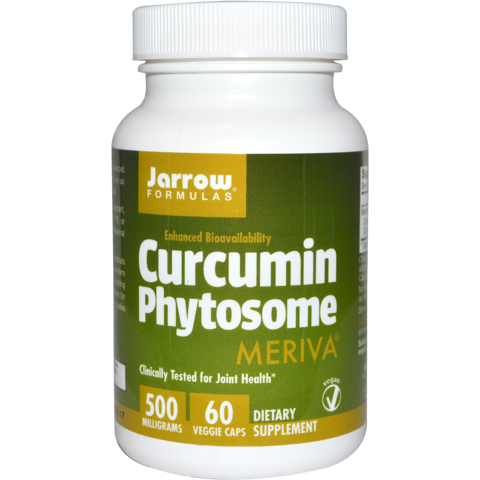 Image of Curcumin Phytosome 500 mg (60 Veggie Caps) - Jarrow Formulas 0790011140863