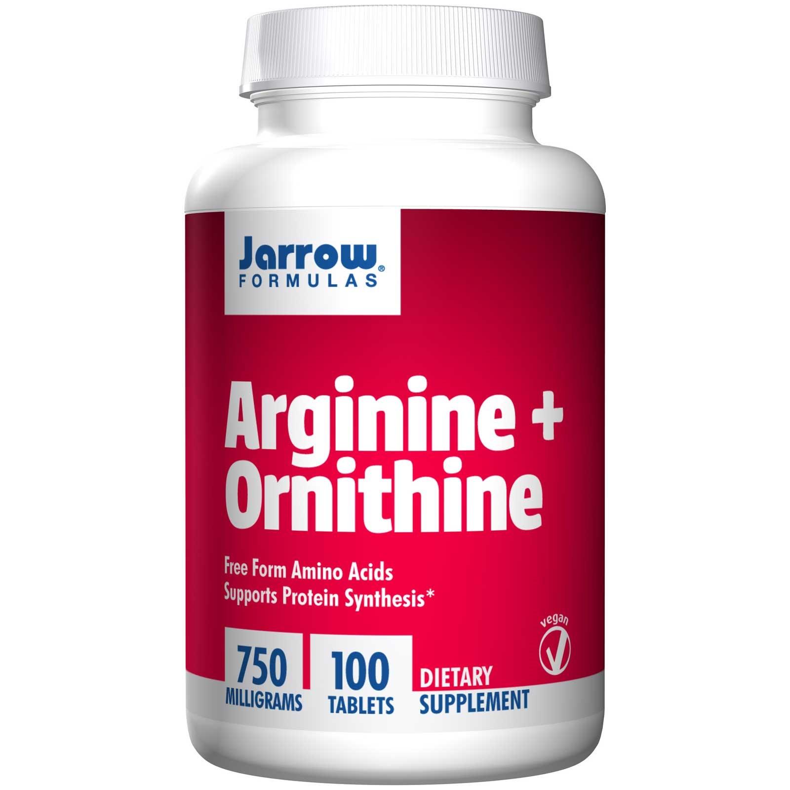 Image of Arginine + Ornithine 750 mg (100 Tablets) - Jarrow Formulas 0790011150411