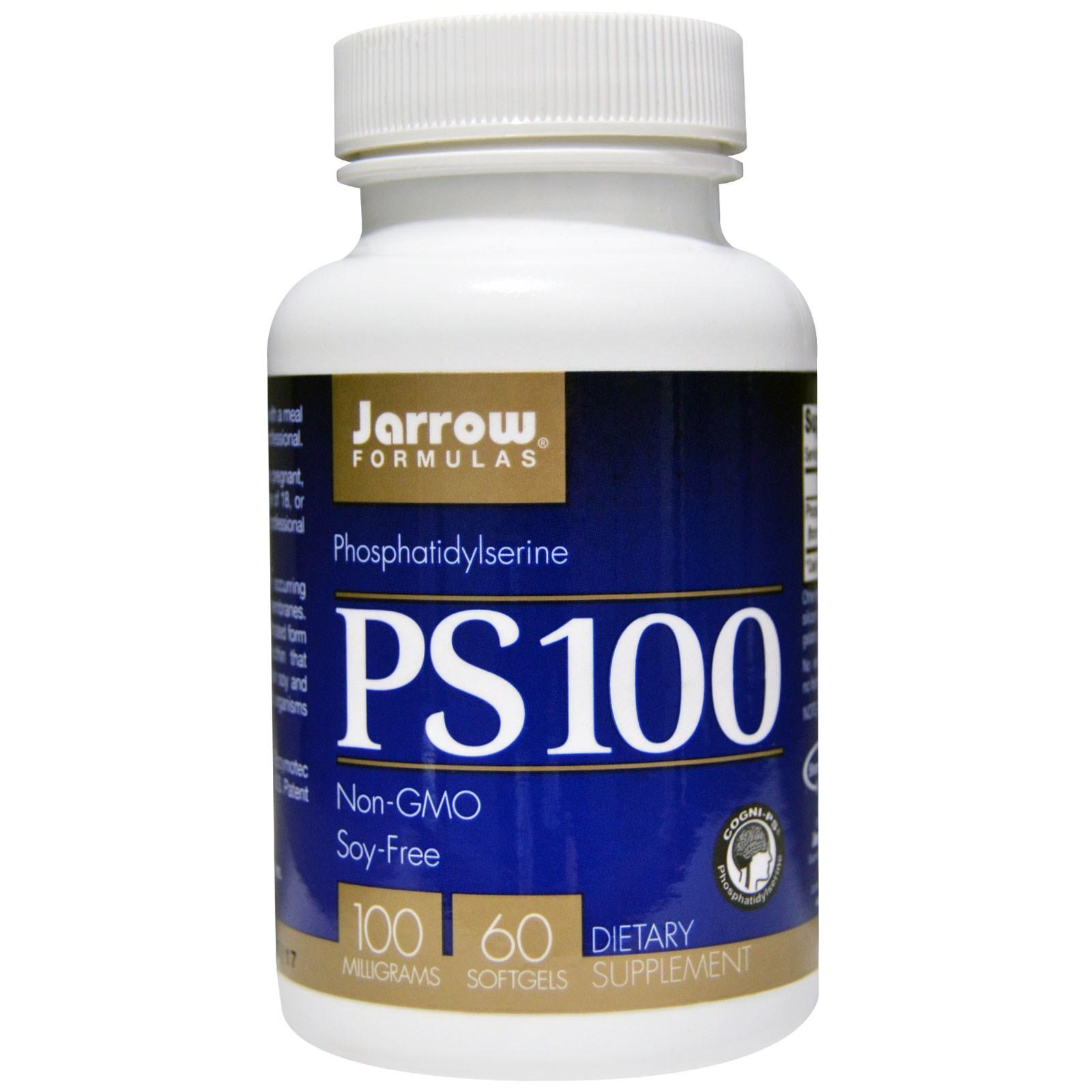 Image of PS100, Phosphatidylserine 100 mg (60 Softgels) - Jarrow Formulas 0790011160069