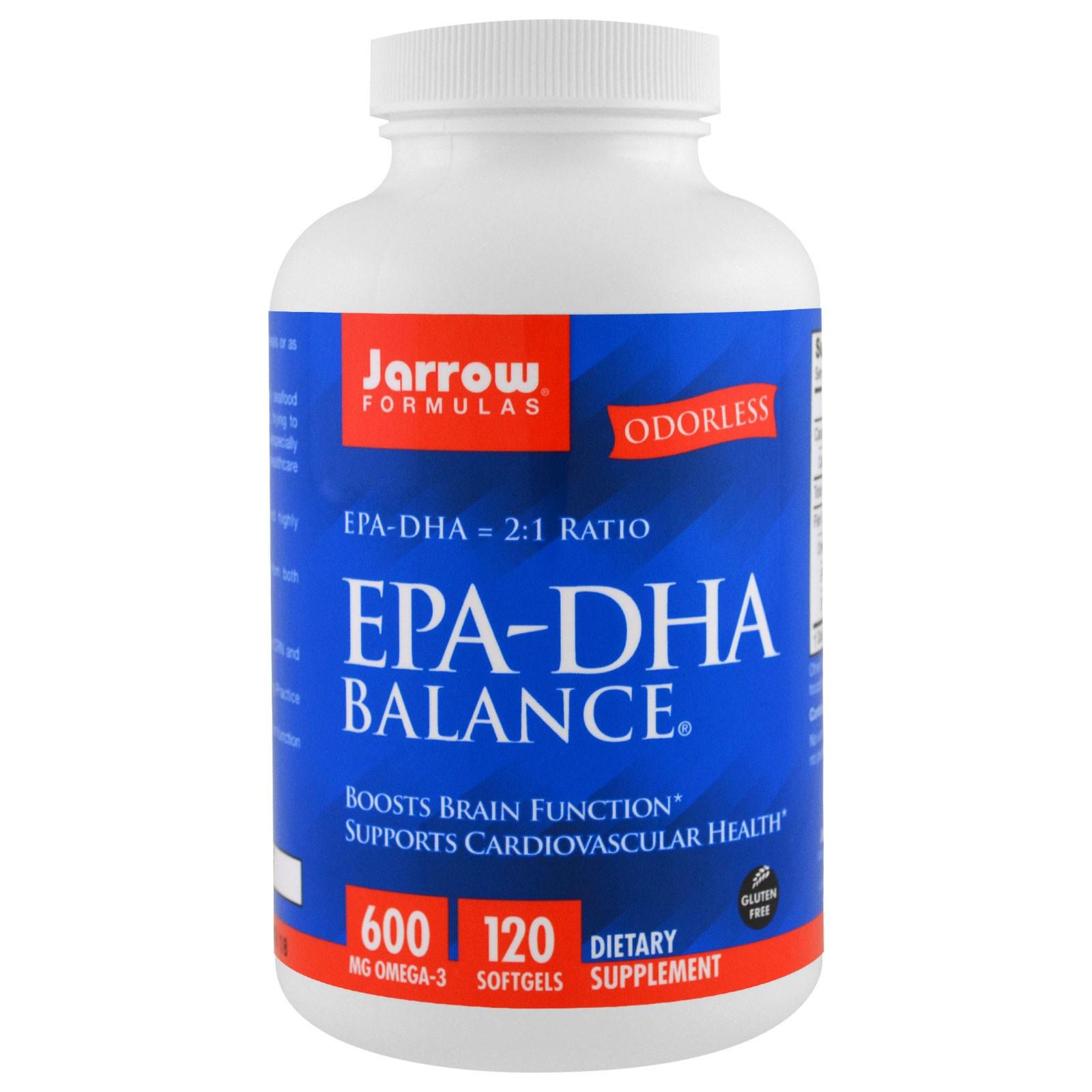 Image of EPA-DHA Balance (120 Softgels) - Jarrow Formulas 0790011160366