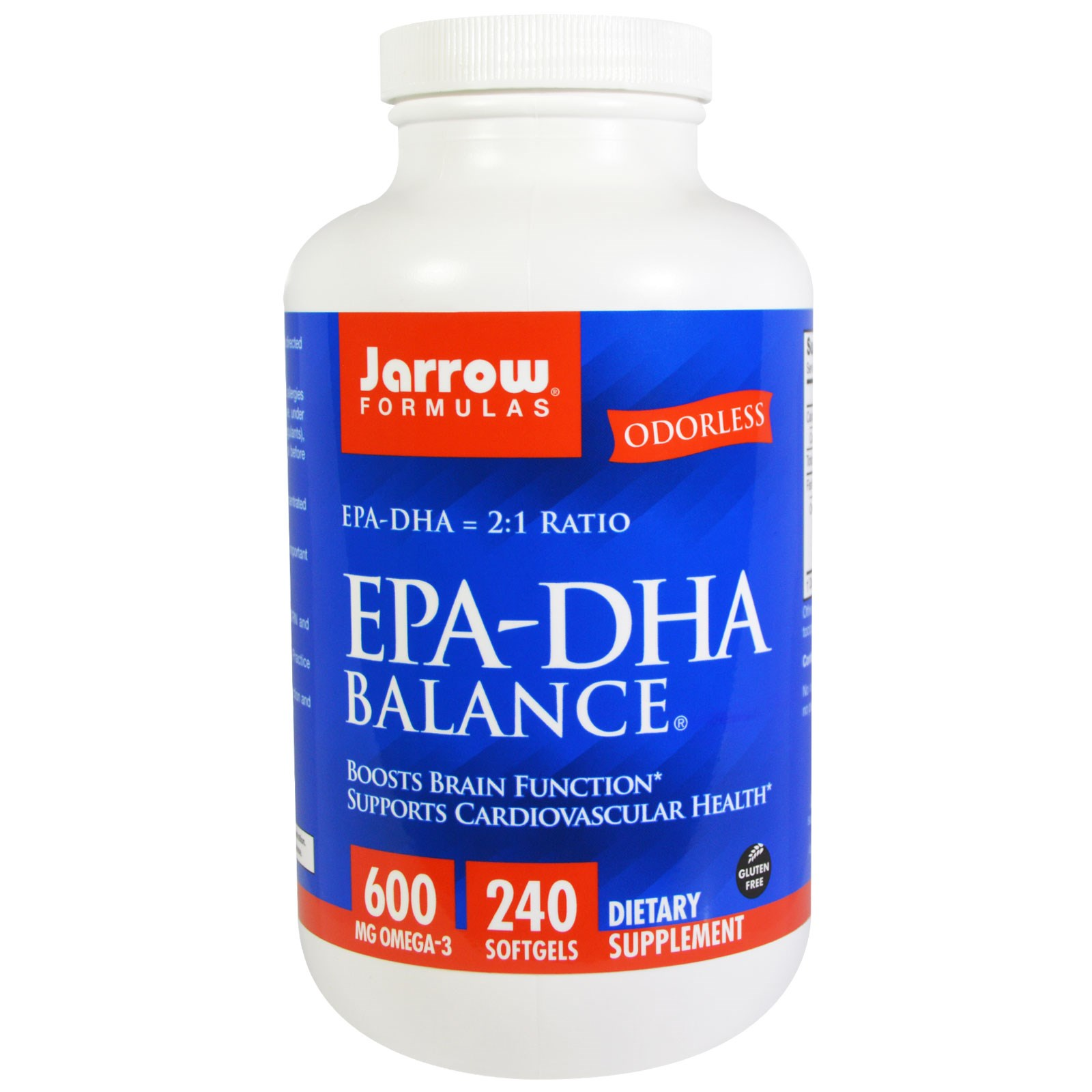 Image of EPA-DHA Balance (240 Softgels) - Jarrow Formulas 0790011160397