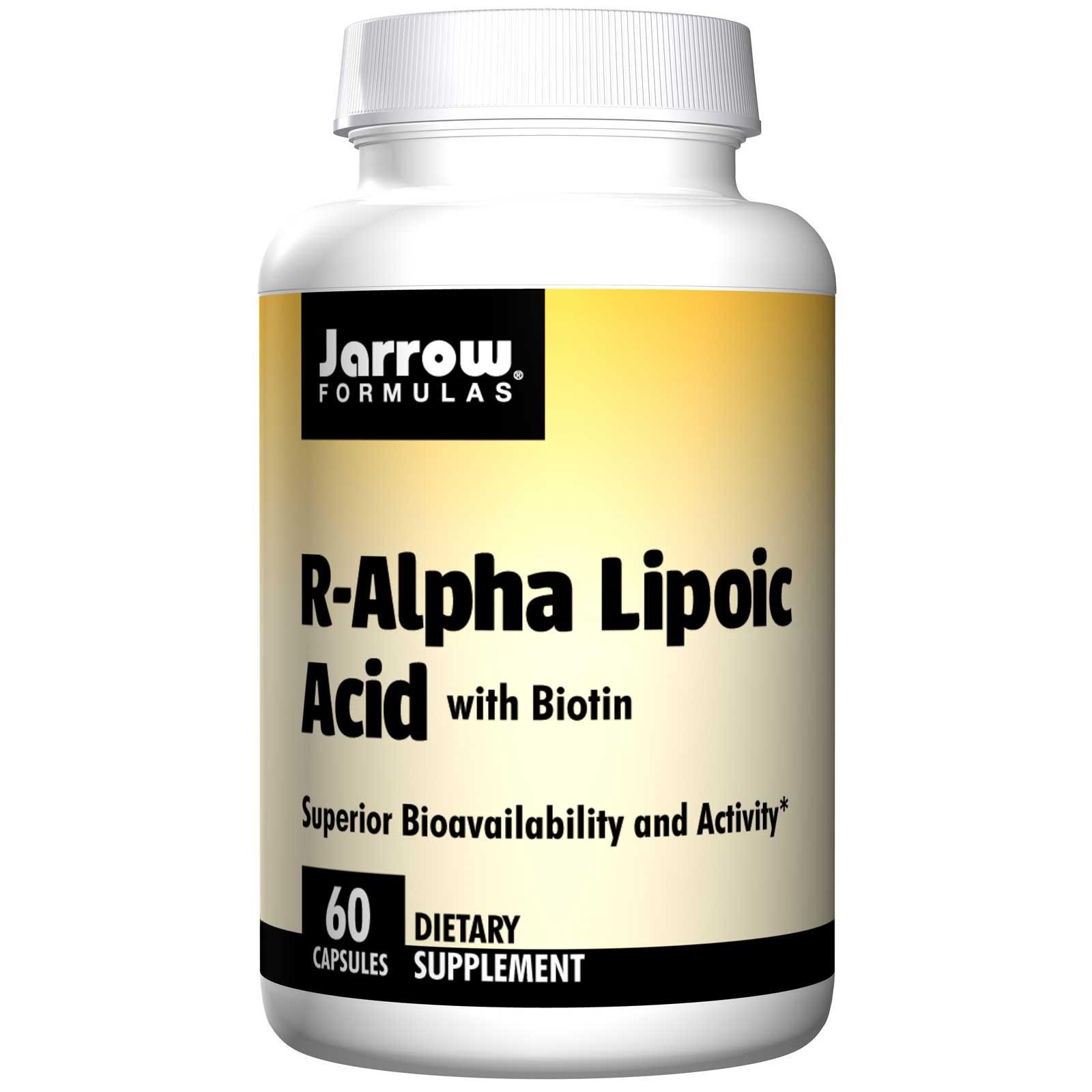Image of R acido alfa lipoico con biotina (60 capsule) - Jarrow Formulas 0790011200390