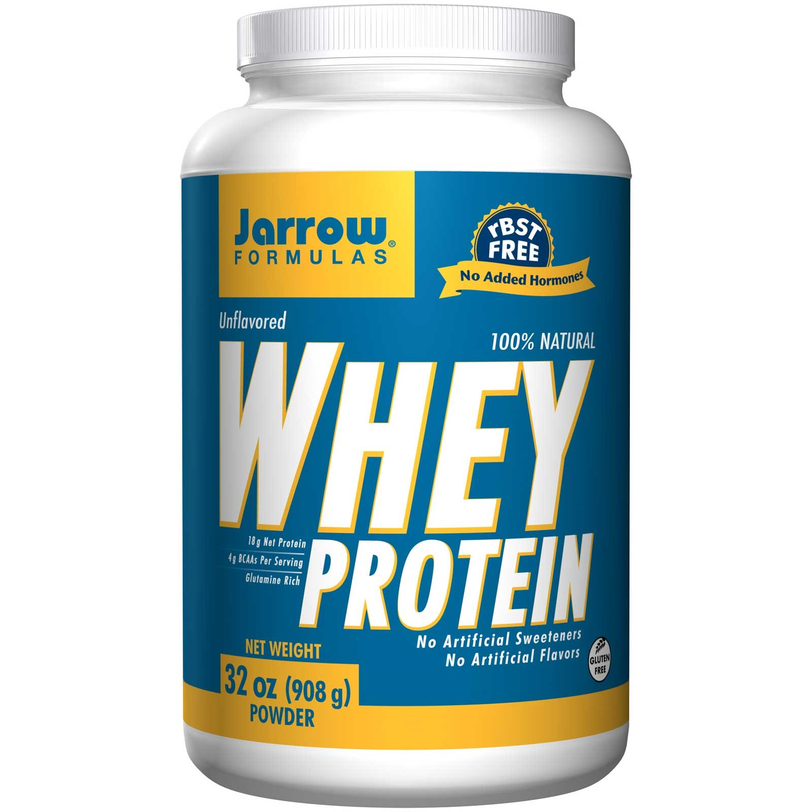 Image of 100% Natural Whey Protein Unflavored (908 gram) - Jarrow Formulas 0790011210146