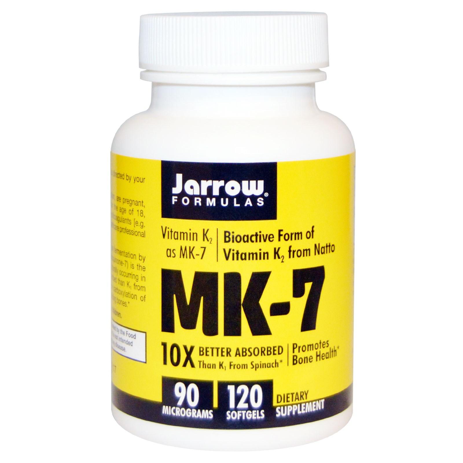 Image of MK-7 vitamina K2 come MK-7, 90 mcg (120 capsule) - Jarrow Formulas 0790011300076