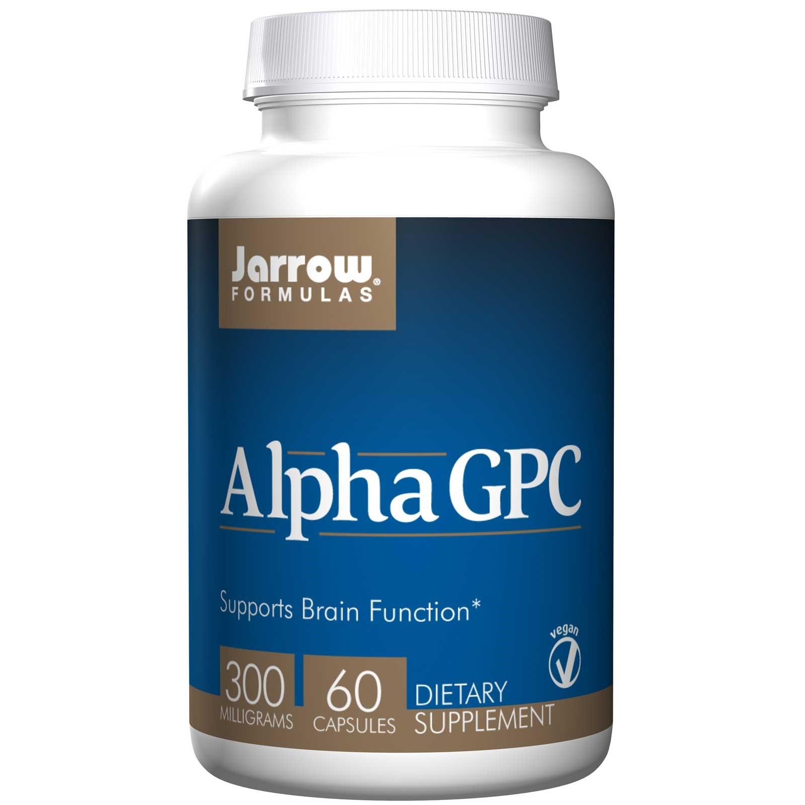 Alpha GPC 300, 300 mg (60 Veggie Caps) Jarrow Formulas