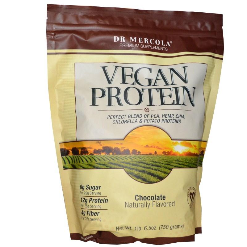 Image of Vegan Protein Chocolate (750 g) - Dr. Mercola 0813006015363