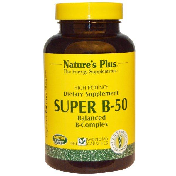 Image of Super B-50 (180 Veggie Caps) - Nature's Plus 0097467013308