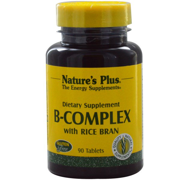 Image of B-Complex with Rice Bran (90 Tablets) - Nature's Plus 0097467014800