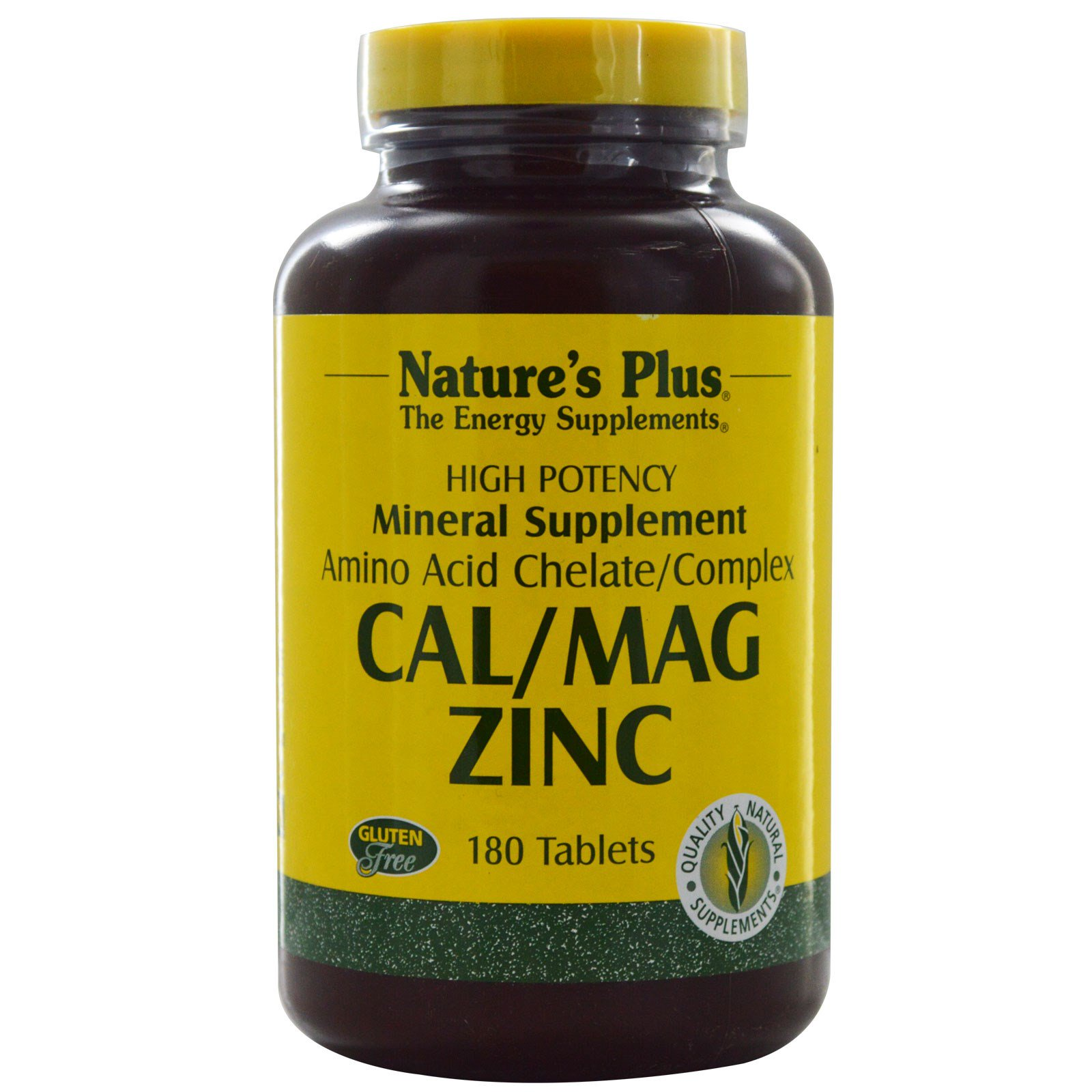 Image of Cal/Mag Zinc (180 Tablets) - Nature's Plus 0097467033665