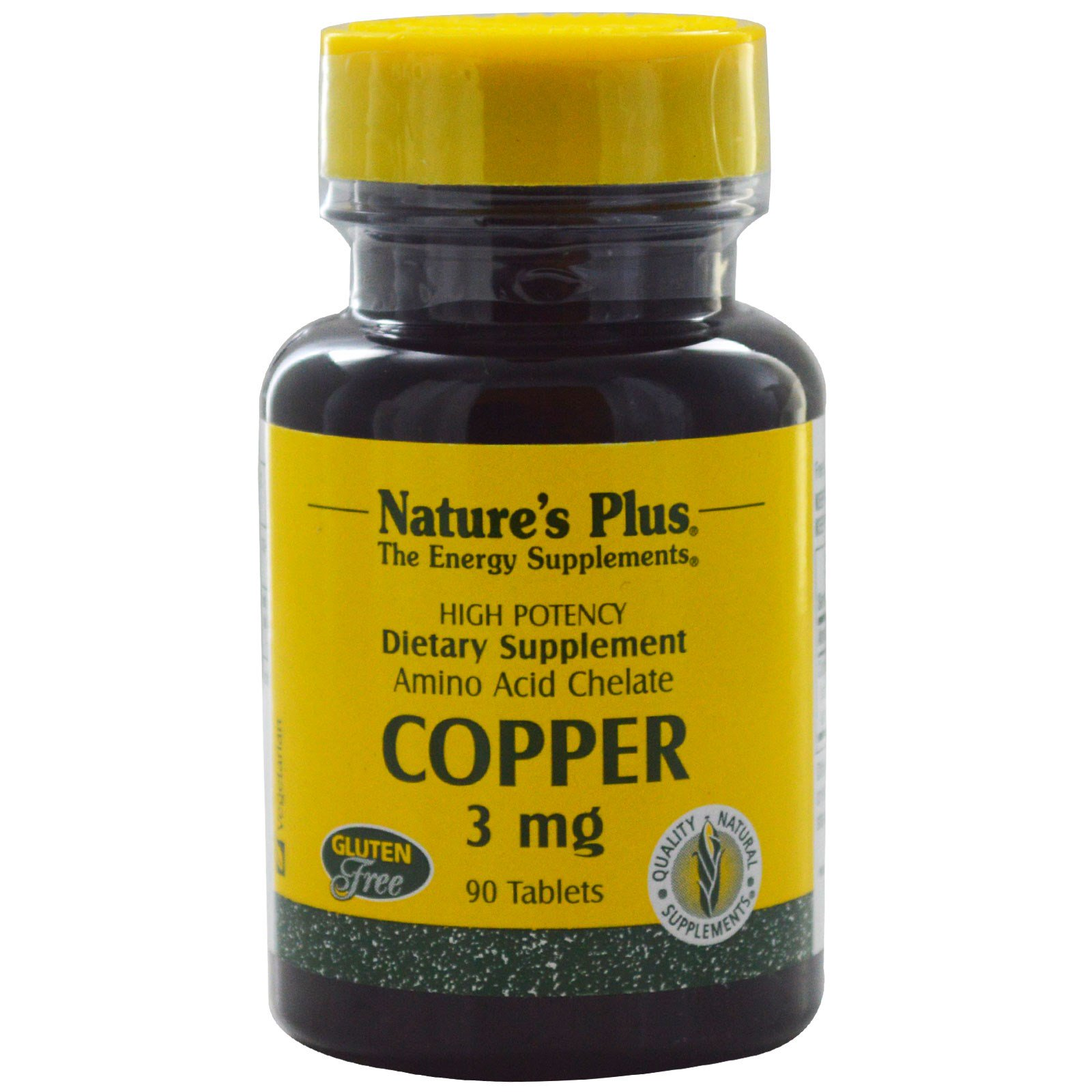 Image of Copper, 3 mg (90 Tablets) - Nature's Plus 0097467034303