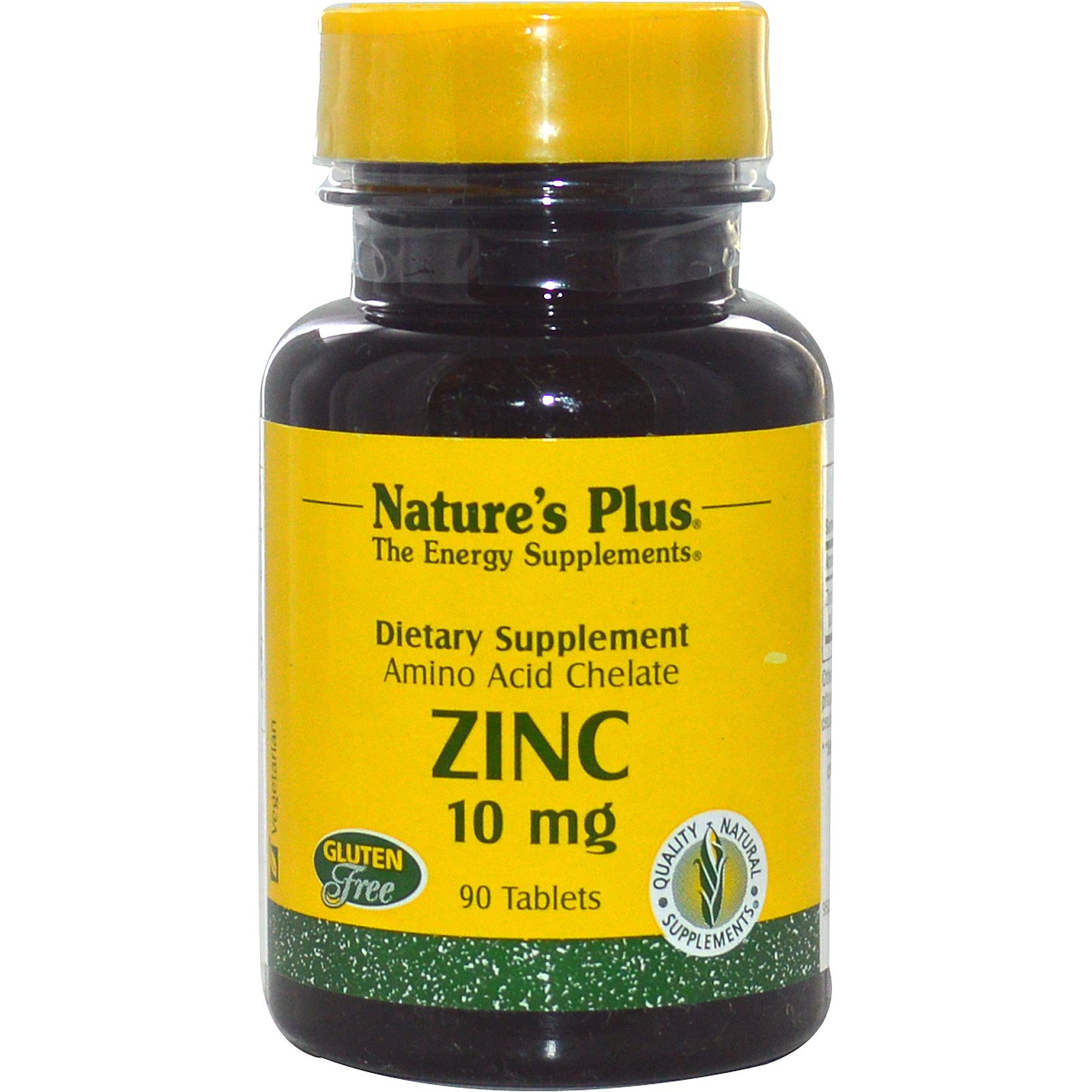 Image of Zinc, 10 mg (90 Tablets) - Nature's Plus 0097467036307