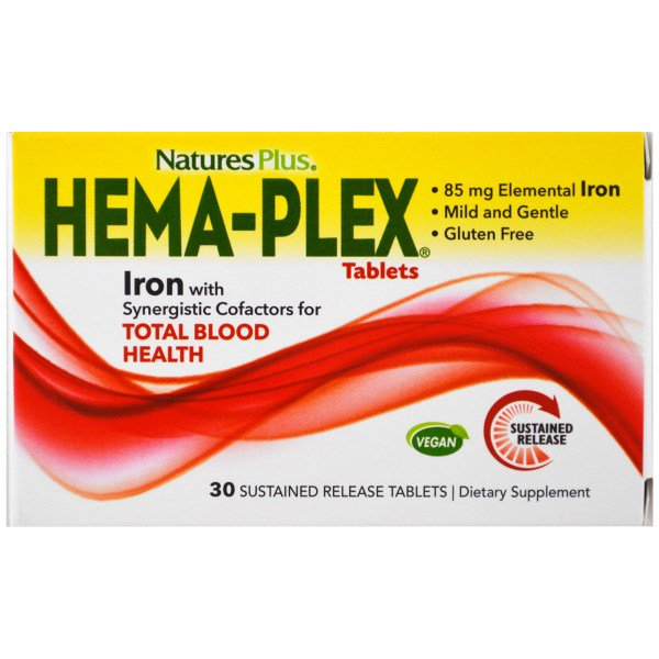 Image of Hema-Plex (30 Sustained Release Tablets) - Nature's Plus 0097467037700