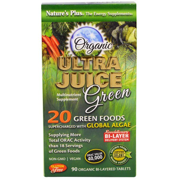 Image of Organic Ultra Juice Green (90 Organic Bi-Layered Tablets) - Nature's Plus 0097467037748