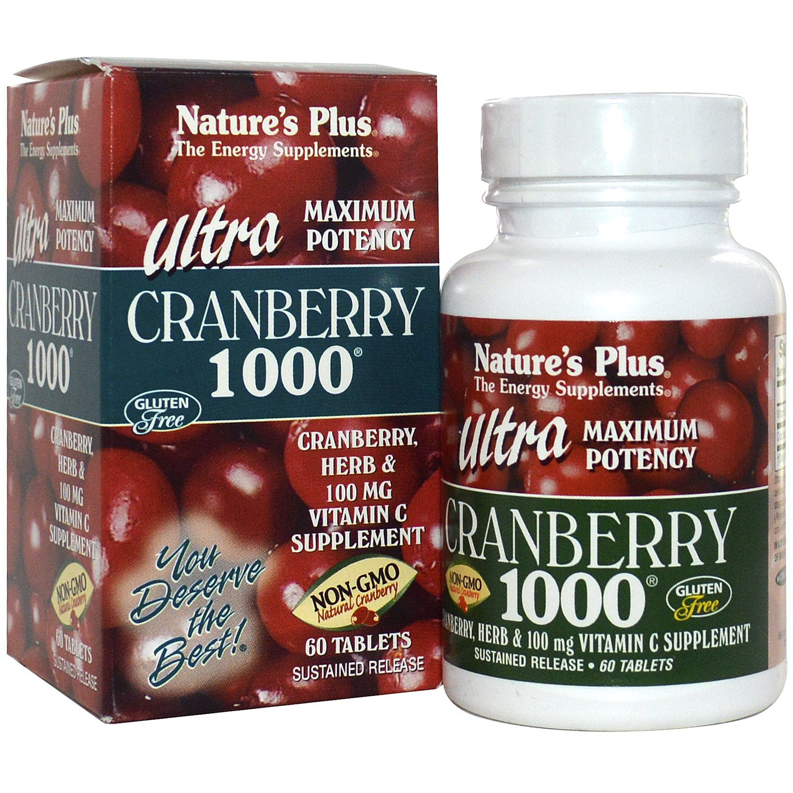 Image of Ultra Cranberry 1000 (60 Tablets) - Nature's Plus 0097467039520