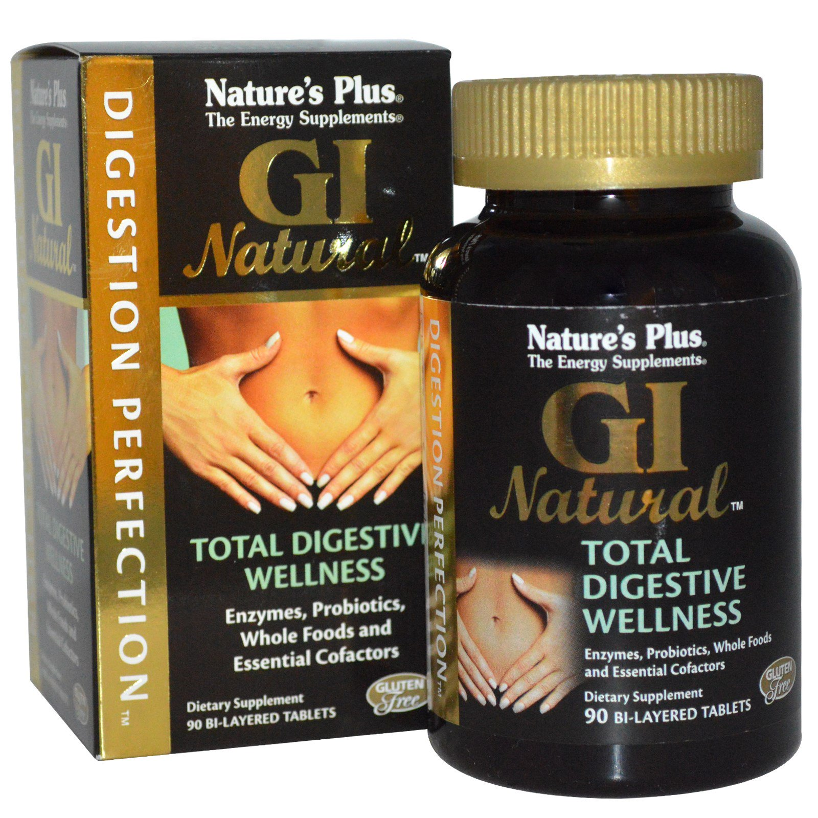 Image of Digestion Perfection, GI Natural (90 Bi-Layered Tablets) - Nature's Plus 0097467043862