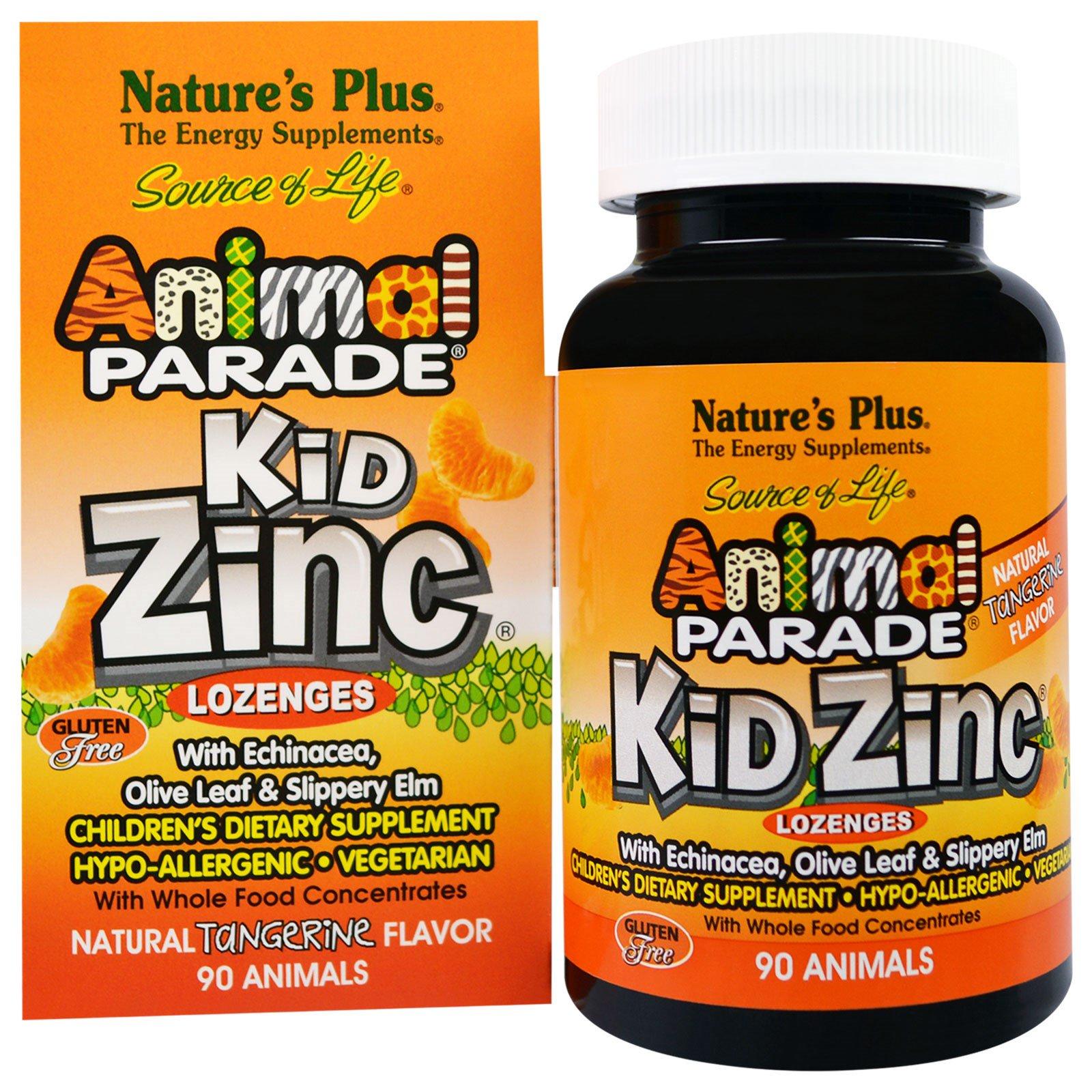 Image of Kid Zinc Lozenges, Natural Tangerine Flavor (90 Animals) - Nature's Plus 0097467299641