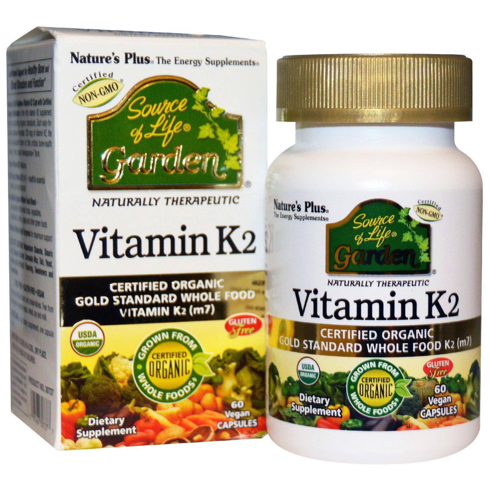 Image of Vitamin K2 (60 Vegan Caps) - Nature's Plus 0097467307377