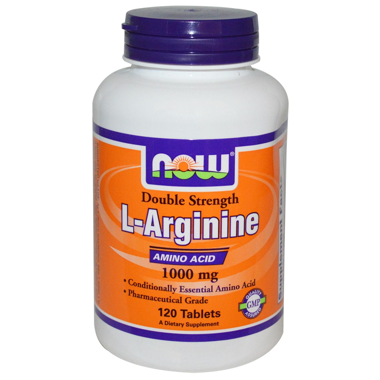 Image of L-Arginine 1000 mg (120 Tablets) - Now Foods 0733739000354