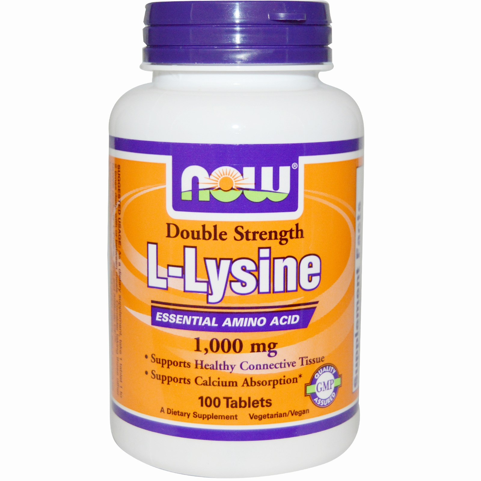 Image of Now Foods, L-Lysine, 1,000 mg, 100 Tablets 0733739001139