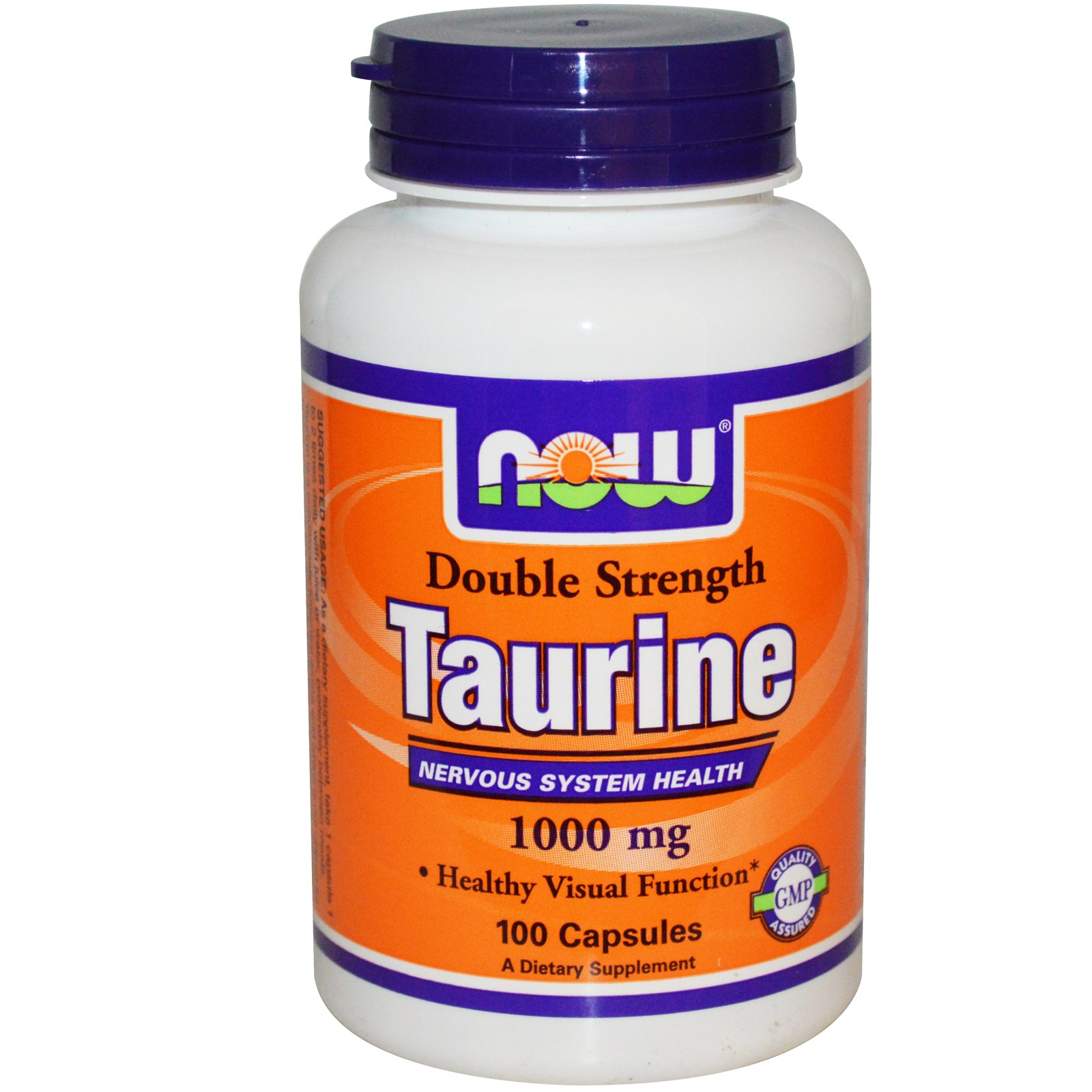 Image of Taurine Double Strength 1000 mg (100 Capsules) - Now Foods 0733739001429