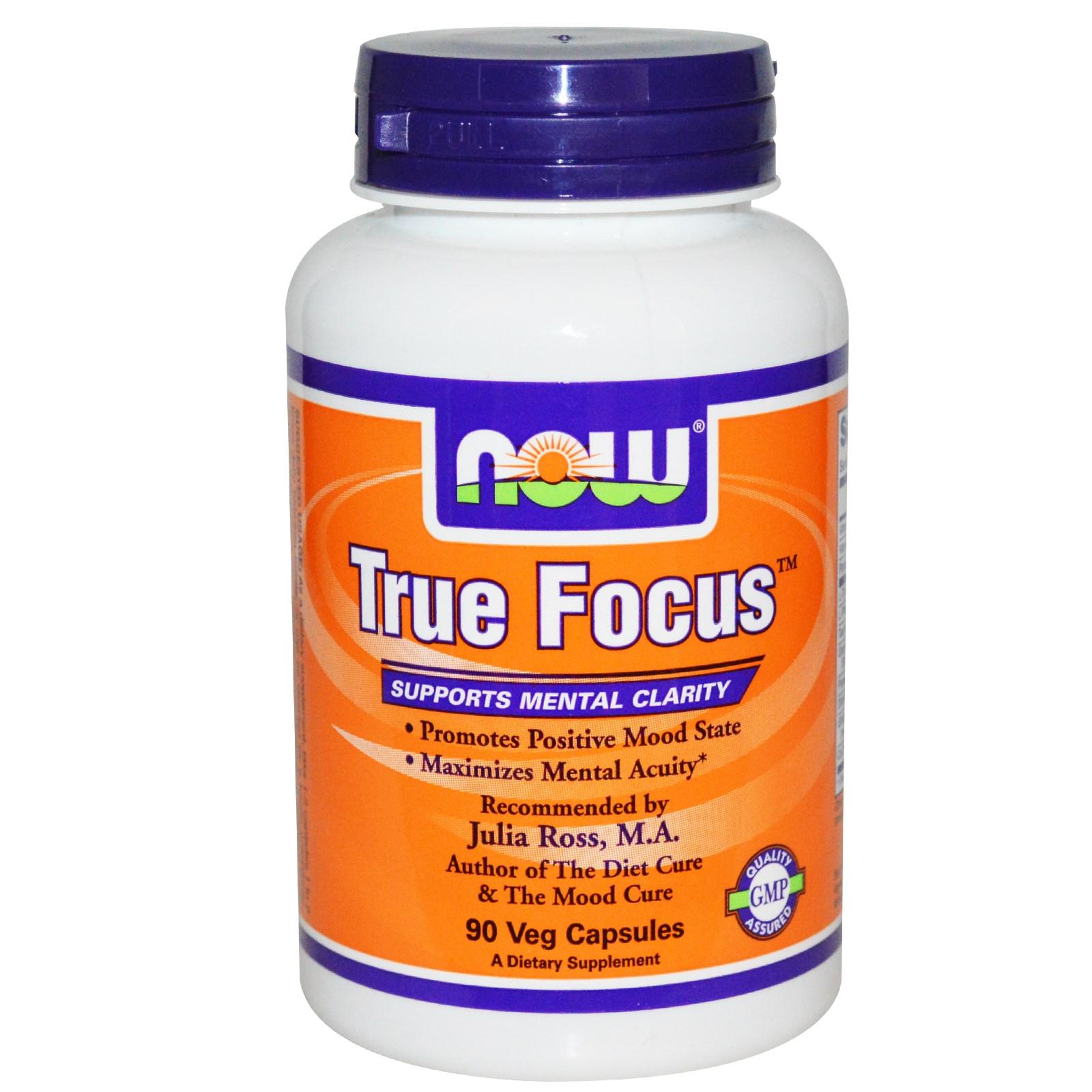 Image of Now Foods, True Focus, 90 Veggie Caps 0733739001573