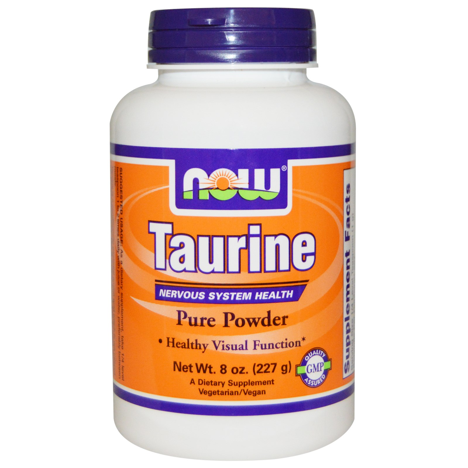 Image of Taurine Pure Powder (227 gram) - Now Foods 0733739002600
