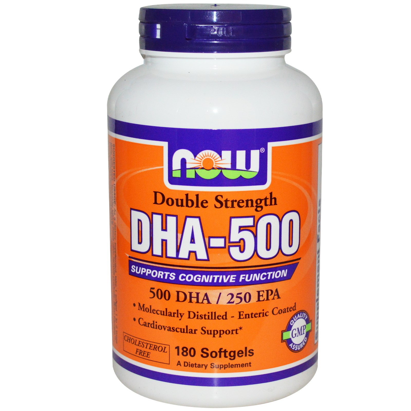 Now Foods, DHA 500, Double Strength, 180 Softgels