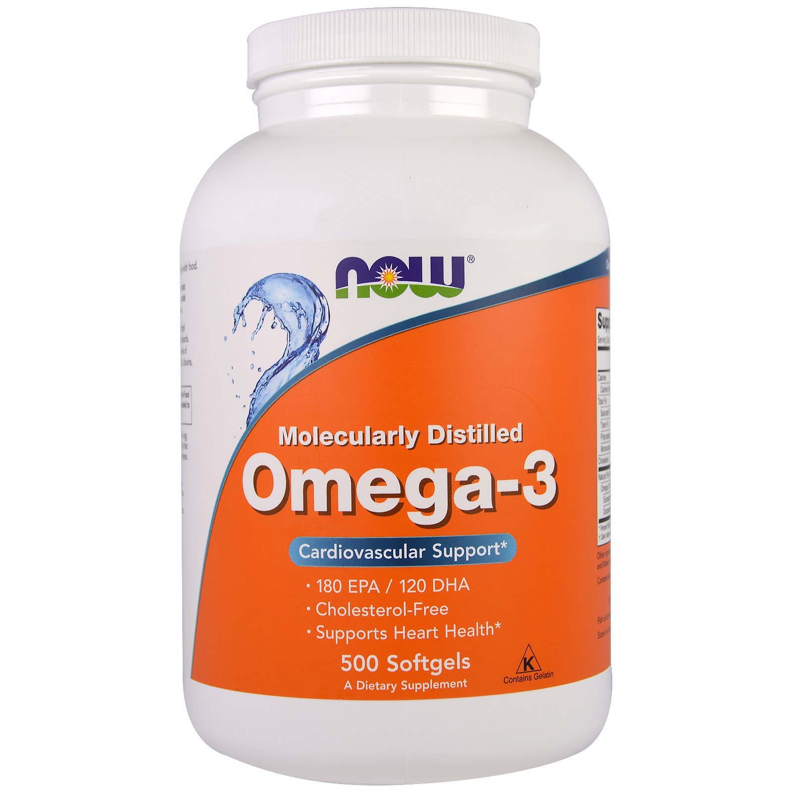 Image of Omega-3 (500 Softgels) - Now Foods 0733739016539