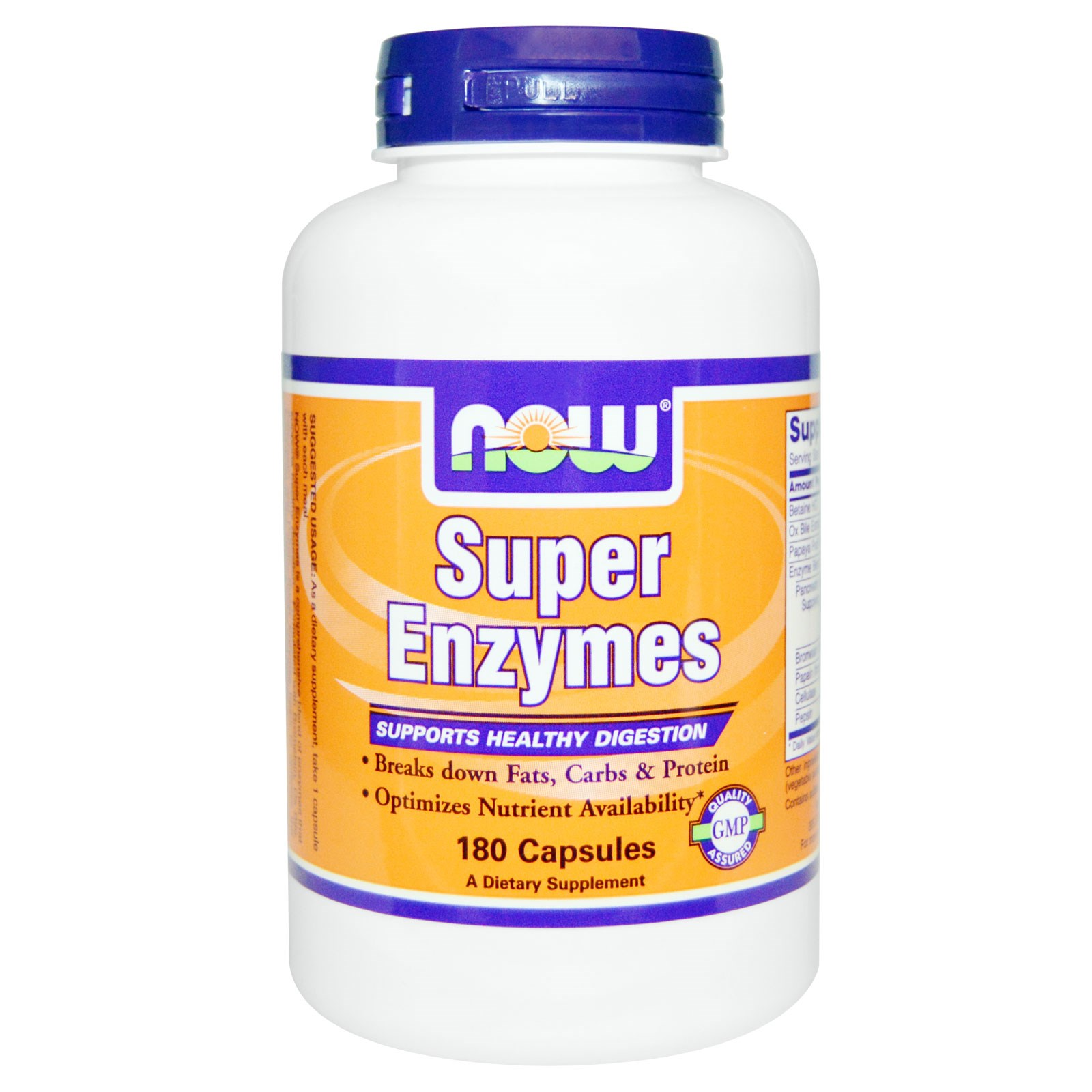 Image of Now Foods, Super Enzymes, 180 Capsules 0733739029645