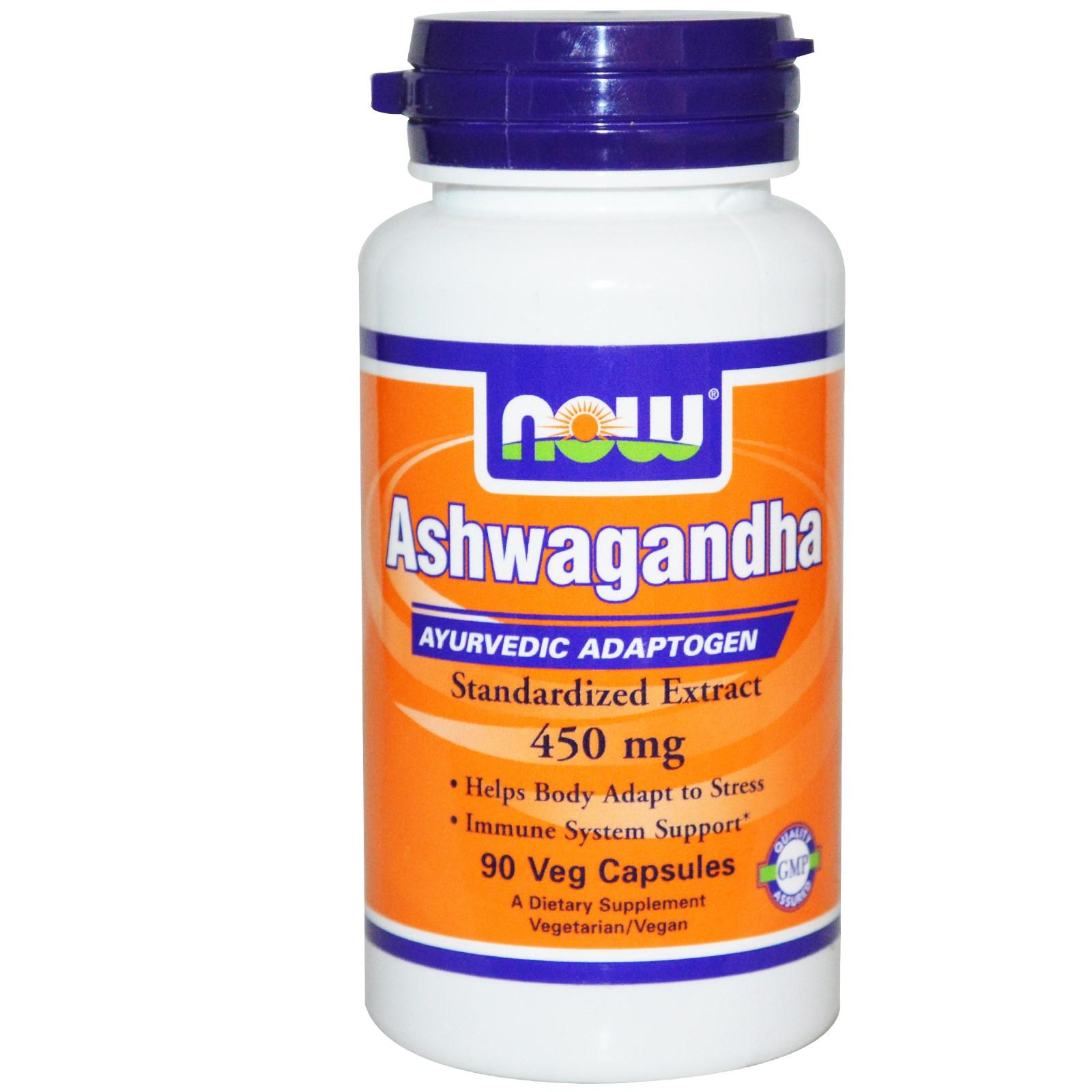 Image of Ashwagandha 450 mg (90 Veggie Caps) - Now Foods 0733739046031
