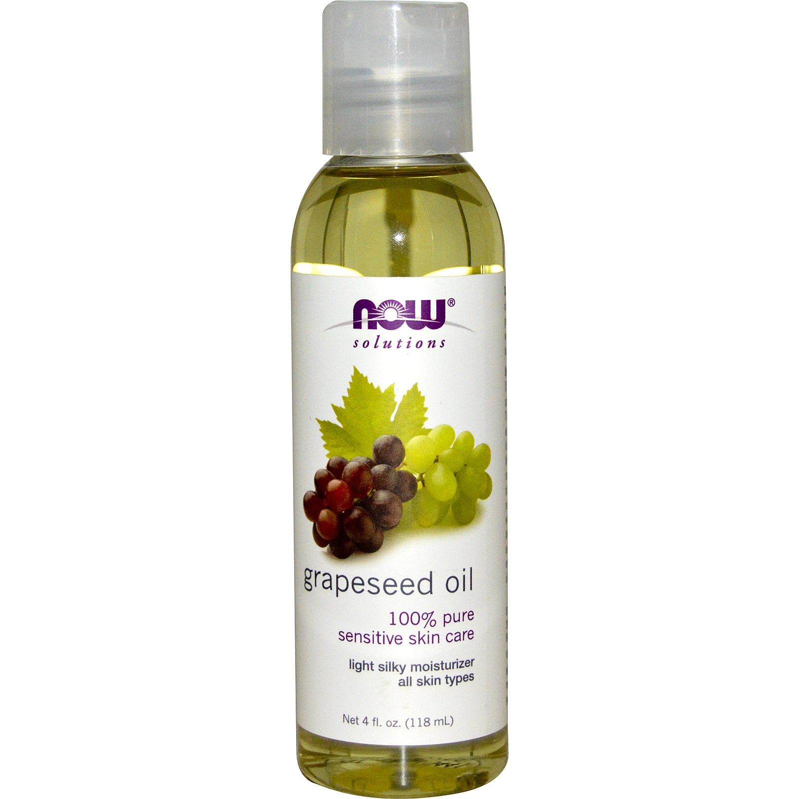 Image of Grapeseed Oil (118 ml) - Now Foods 0733739077059