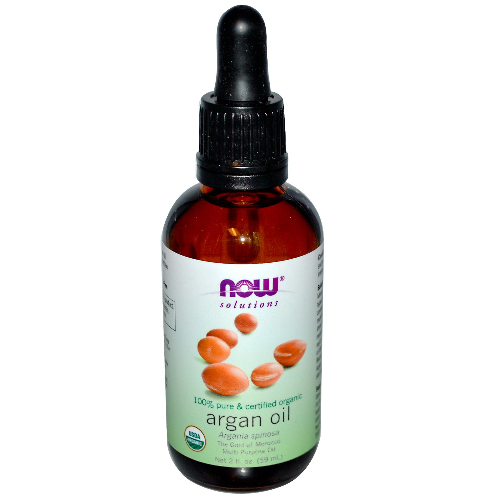 Image of Organic Argan Oil (59 ml) - Now Foods 0733739077349