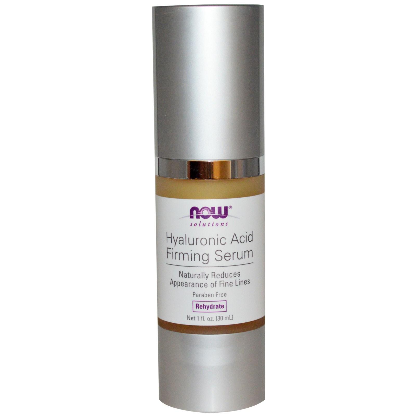 Image of Hyaluronic Acid Firming Serum (30 ml) - Now Foods 0733739077882