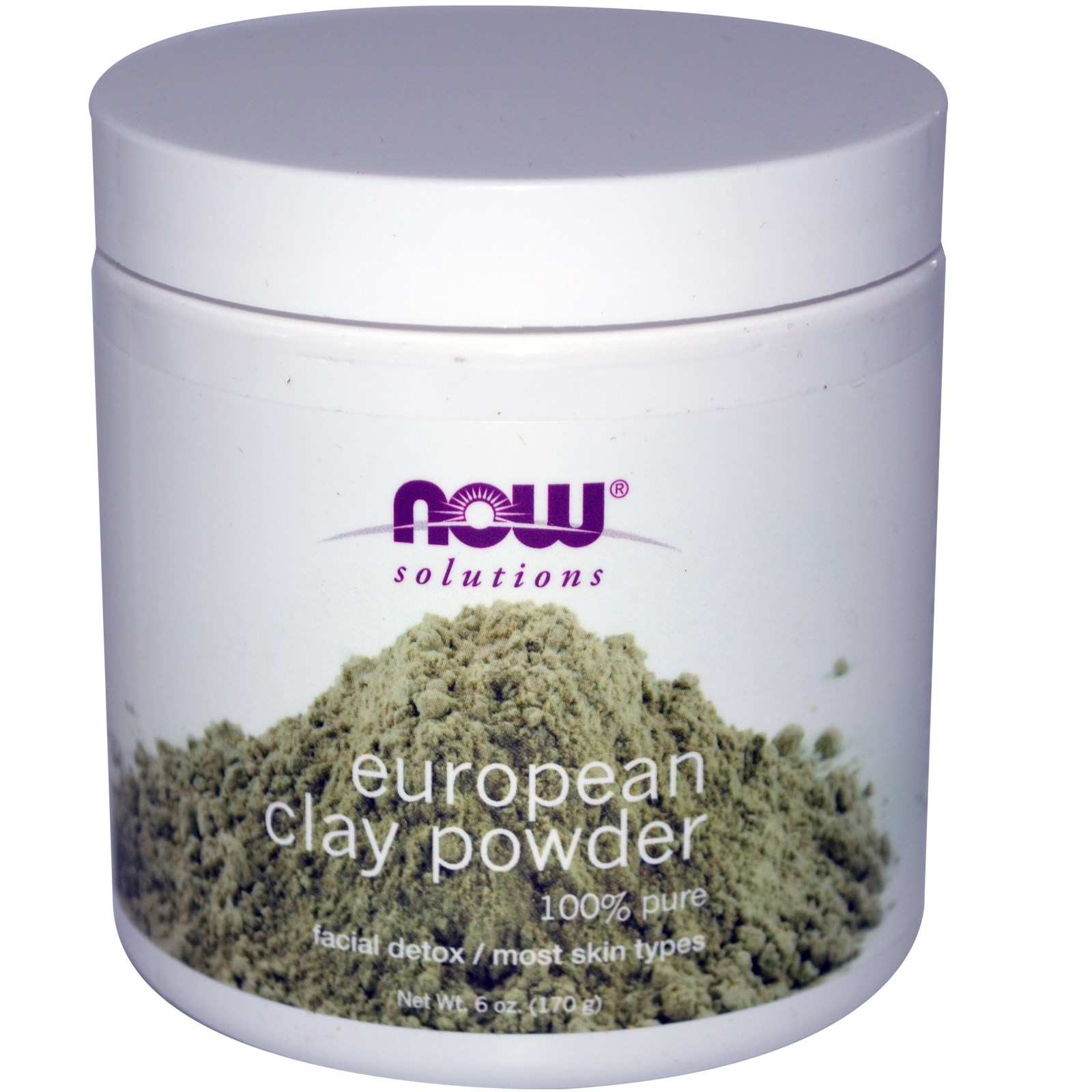 Image of European Clay Powder (170 gram) - Now Foods 0733739081506