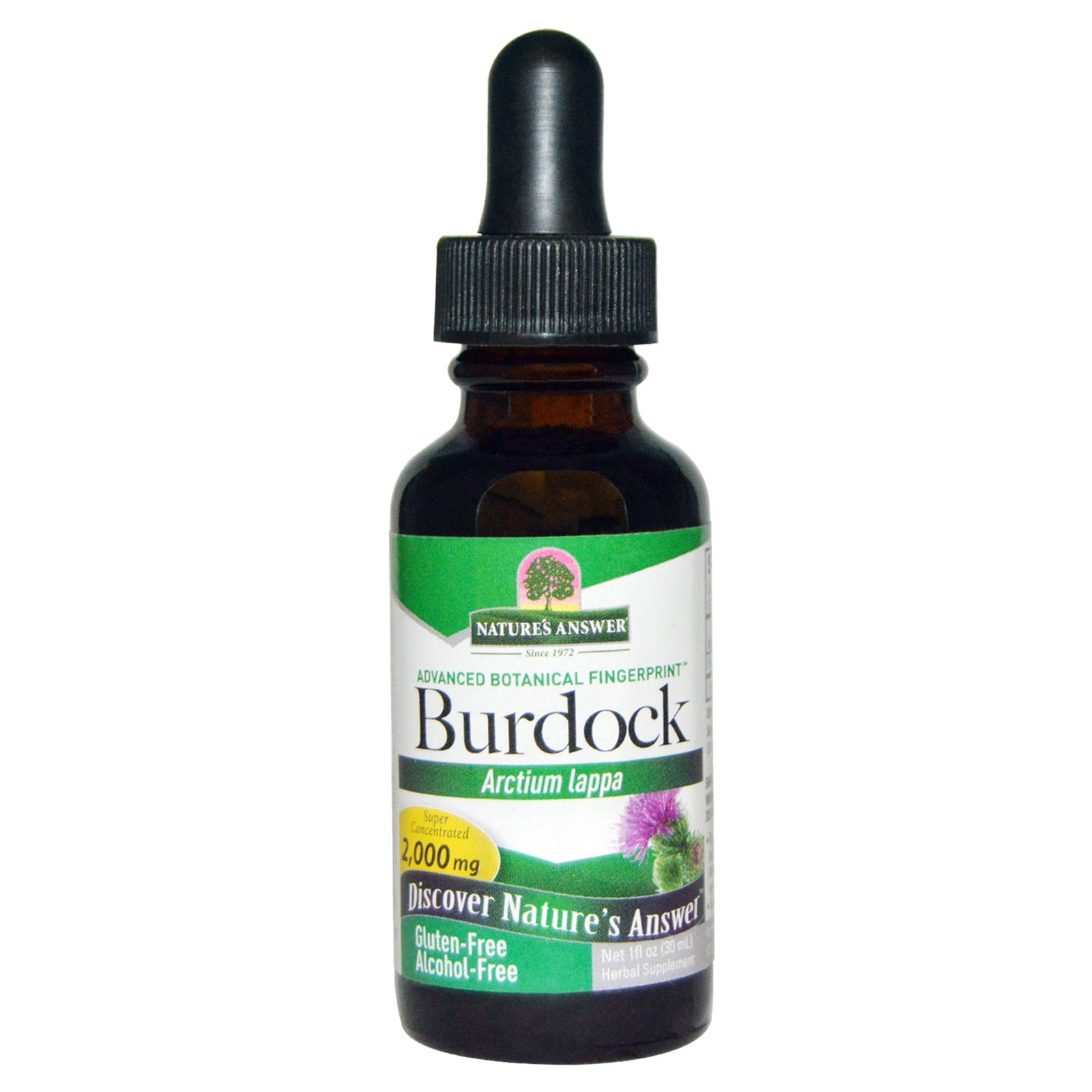 Image of Burdock, Alcohol-Free, 2000 mg (30 ml) - Nature's Answer 0083000005848