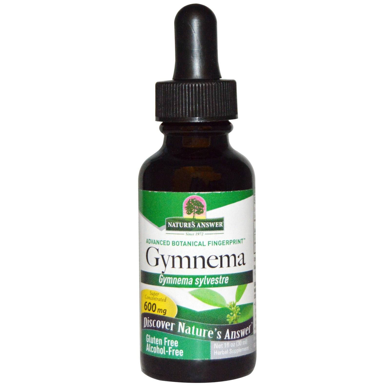 Image of Gymnema, Alcohol-Free, 600 mg (30 ml) - Nature's Answer 0083000006319