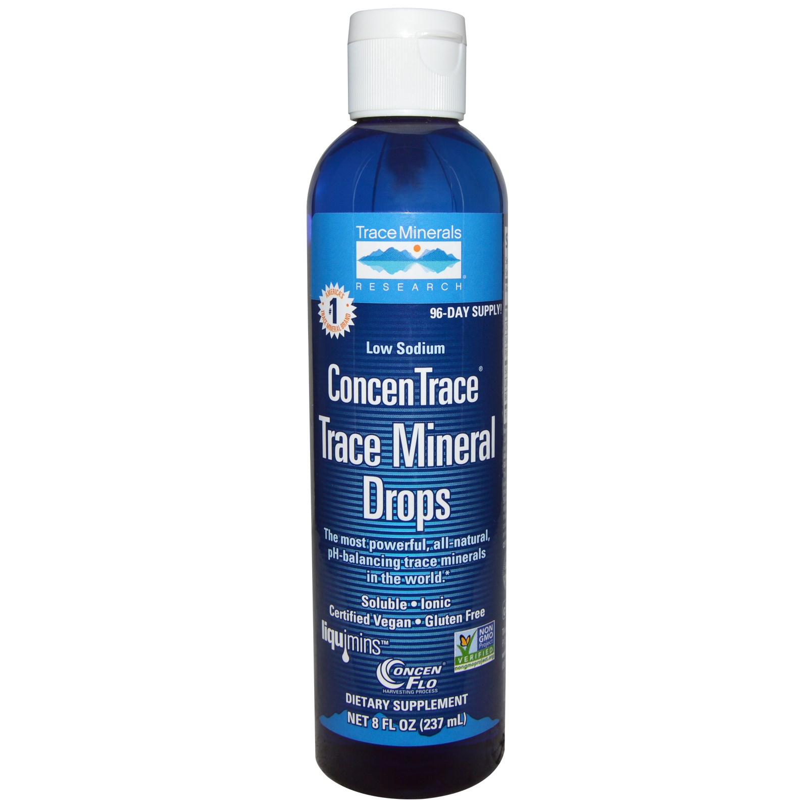 Image of ConcenTrace, Trace Mineral Drops (237 ml) - Trace Minerals Research 0878941000058